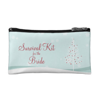 Winter-Baum-und Schneeflocke-Überlebensausrüstung