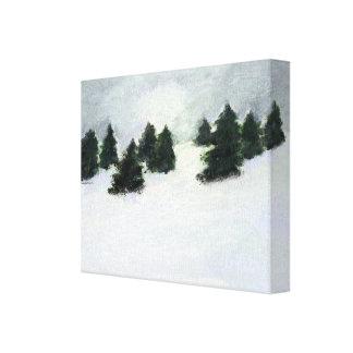 Winter-Bäume Leinwanddrucke