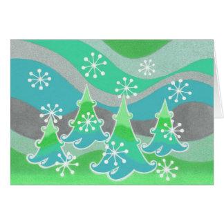 "Winter-Baumgrün ""frohe Feiertage"" Karte"