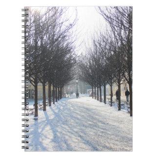 Winter-Baums in Prag (Tschechische Republik) Spiral Notizblock