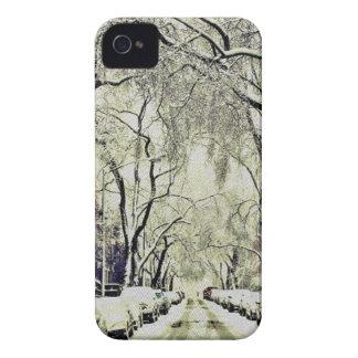 Winter bedeckte Straßen iPhone 4 Hüllen