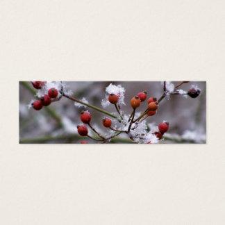 Winter-Beeren-Lesezeichen Mini Visitenkarte