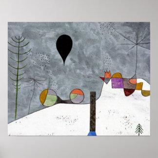 Winter-Bild durch Paul Klee abstrakt Poster