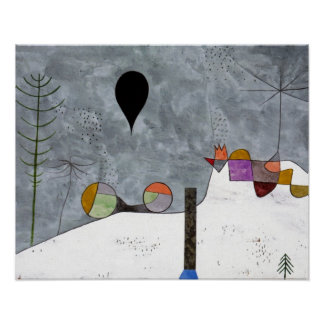 Winter-Bild durch Paul Klee Poster