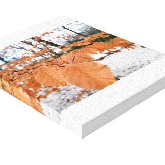 Winter-Blätter Leinwanddruck
