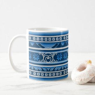 Winter-blauer nordischer Entwurf Kaffeetasse