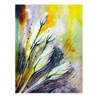 Winter-Blumen Postkarte