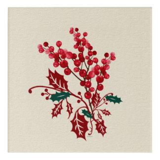Winter-Blumenstrauß Acryl Wandkunst