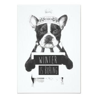 Winter bohrt 12,7 x 17,8 cm einladungskarte