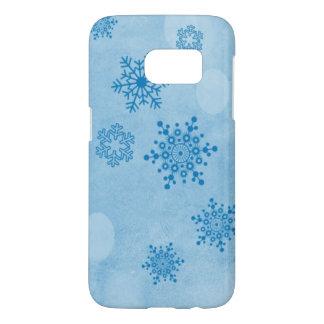 Winter bokeh, blau