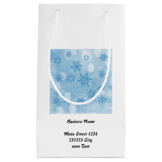 Winter bokeh Blau Kleine Geschenktüte