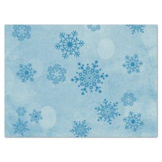Winter bokeh, blau seidenpapier