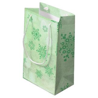 Winter Bokeh Grün Kleine Geschenktüte