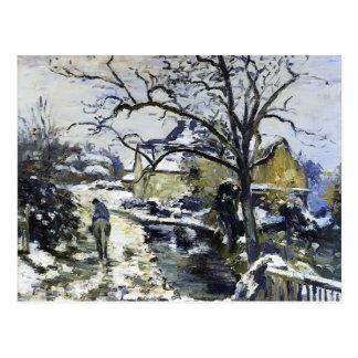 Winter Camilles Pissarro- bei Montfoucault 2 Postkarten