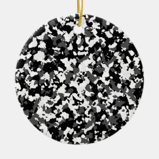 Winter-Camouflagemuster Keramik Ornament