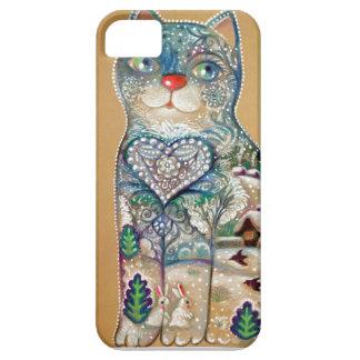 winter cat iPhone 5 etui