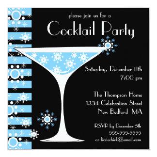 Winter CocktailParty Quadratische 13,3 Cm Einladungskarte