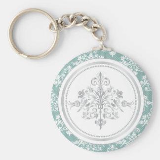Winter-Damast Keychain Standard Runder Schlüsselanhänger
