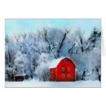 Winter-Dämmerung, Feiertags-Karten