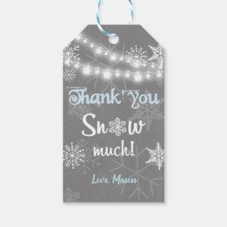 Winter danken Ihnen, zu schneien viel Geschenkanhänger