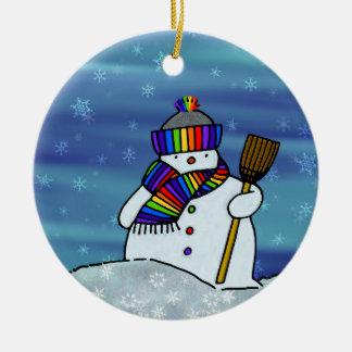 Winter der Liebe I! Rundes Keramik Ornament