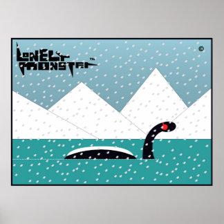 Winter-einsames Monster Poster
