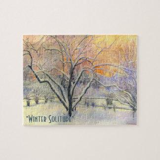 Winter-Einsamkeit Puzzle