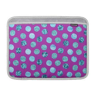 Winter-Eis-Polka-Punkte lila MacBook Sleeve