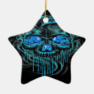 Winter-Eis-Skelette Keramik Ornament