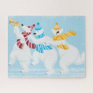 Winter-Eisbär-Parade 16 x 20 Kasten des Puzzle