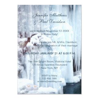 Winter Elope oder geben Hochzeits-Party Einladung