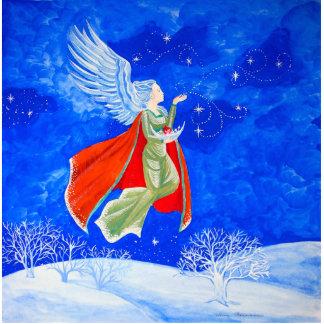 Winter-Engel Freistehende Fotoskulptur