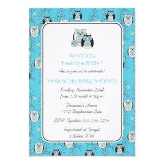 Winter-Eulen-Babyparty-Einladung 12,7 X 17,8 Cm Einladungskarte