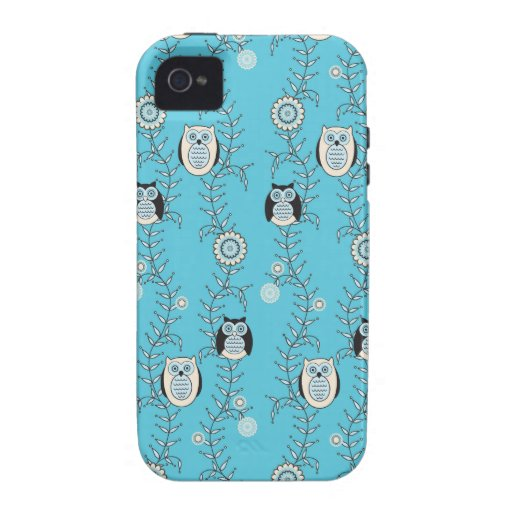Winter-Eulen iPhone 4 Case-Mate stark