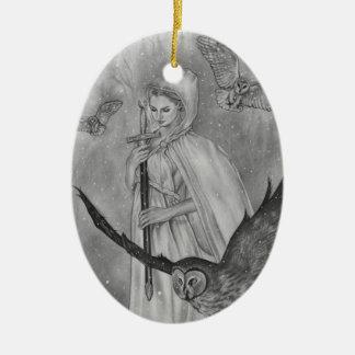 Winter-Eulen-Winter-Dame Ornament
