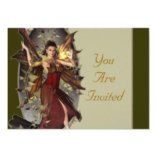 Winter-Feen-Ereignis lädt ein Personalisierte Einladungskarte