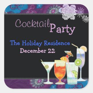 Winter-Feiertags-Cocktail-Party Einladungs-Aufkleb