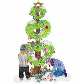 Winter-Feiertags-Liebe-Baum-Skulptur Freistehende Fotoskulptur