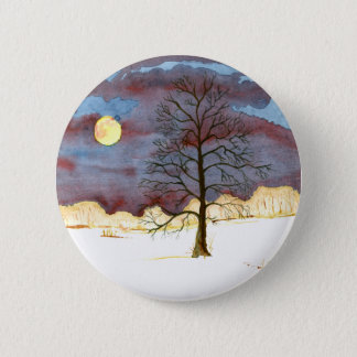 Winter-Feld Runder Button 5,1 Cm