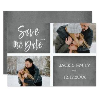 Winter-Foto-Save the Date Karte