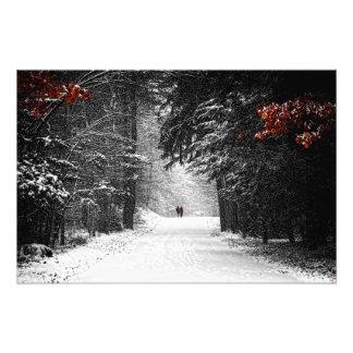 Winter-Freundschaft Photodrucke