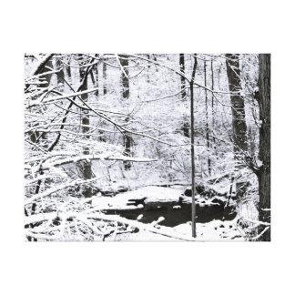 Winter-Frieden Leinwanddruck
