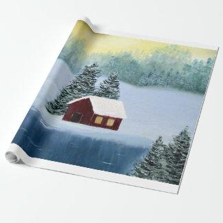 Winter-FriedensPackpapier Geschenkpapier