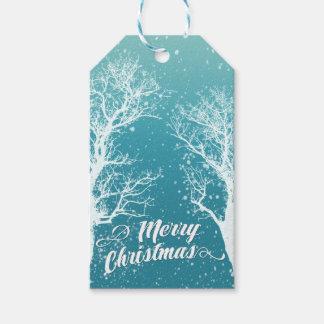 Winter-frohe Weihnacht-Feiertag Geschenkanhänger