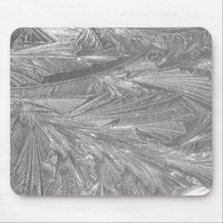 Winter Frost in Schwarzweiss Mousepads