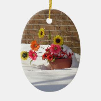Winter-Frühlings-Gänseblümchen Keramik Ornament