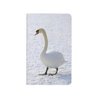 Winter-Gans-Vogel-Geflügel-Schnee-Tier-Natur-Foto Taschennotizbuch