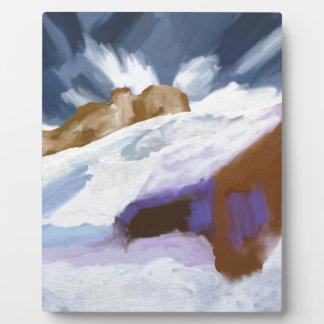 Winter-Gebirgskunst Fotoplatte