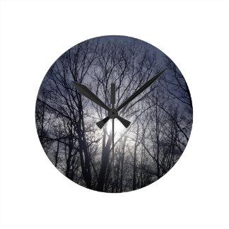 Winter-Glühen Runde Wanduhr