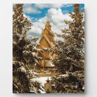 Winter Gol Kirche Minot North Dakota Fotoplatte